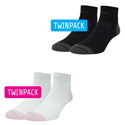  Twin Skin Anklet Socks Twin Pack
