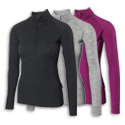 Ladies Merino L/S Zip Neck Baselayer M_150 AW11