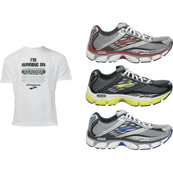 Brooks Glycerin 8 Shoes with Free Tech T-Shirt