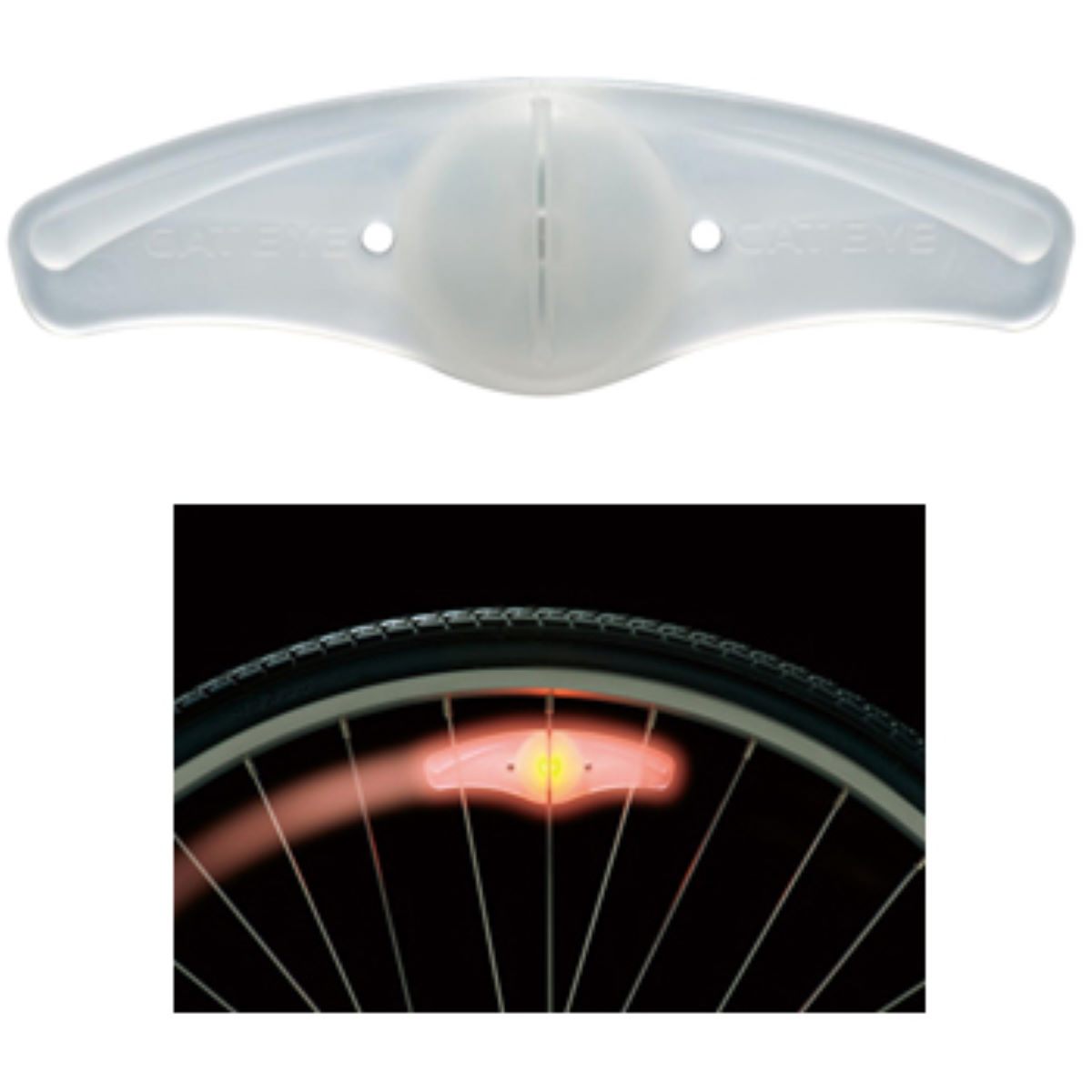 Cateye SL120 Orbit Spoke Front and Rear Light Set