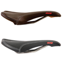  Spoon Ti Leather Saddle with Titanium Rails