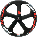 Carbon 5 Spoke Tubular Front Wheel (Ceramic)