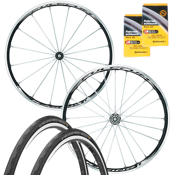 Fulcrum Racing 1 Wheelset with Conti Tyres and Tubes