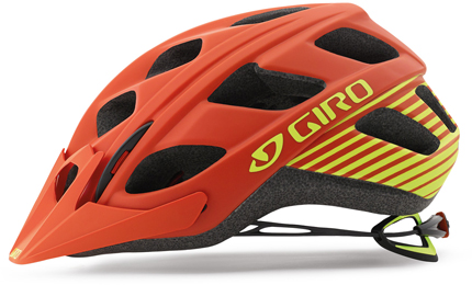 "/><br/><br/><strong>In-Mold Construction</strong><br/>In-mold construction fuses a tough polycarbonate outer shell with the helmet's impact absorbing foam liner. The fusion process allows Giro to sculpt better ventilation systems, so In-mold helmets can be lighter and cooler than traditional helmets. <br/><br/><strong>Super-Fit</strong><br/>A great helmet is so comfortable that once it's on, it virtually disappears. Giro's proprietary three-size Super Fit system is based on ""human scale factors"" data and over 20 years of crafting helmets for the best bike riders in the world. The result is pure Skull Hugging Luxury, a helmet that fits 98% of the world's population, yet looks (and fits) like it was custom made just for you.<br/><br/><strong>P.O.V. Visor</strong><br/>Points of View (POV) visors are anchored by a patented internal clutch mechanism that allows 15-degrees of tool-free, on-the-fly vertical adjustment while preventing the visor from rattling and coming loose over rough and technical terrain. Can be removed without tools also.<br/><br/><strong>Roc Loc 5 System</strong><br/>This groundbreaking fit system provides an entirely unique user experience with an unmatched level of comfort, stability, adjustability and weight savings. With Roc Loc 5, you can easily dial-in both fit tension and adjust vertical position with a single hand. Just twist the dial for a tighter feel on rough terrain, then back it off a notch and relax across the flats or a warm climb. Even with these remarkable features, Roc Loc 5 is still nearly 40% lighter than its popular predecessor, Roc Loc 4.<ul><li>Micro Dial: The heart of Roc Loc 5 is this ratcheting, micro-adjusting dial. A simple, two-finger twist of the Micro Dial opens or closes the retention system and each click is audible</li><li> Three-Position Bracket: It's never been easier to change vertical positions and fine-tune fit. We incorporated a three-position bracket that features 15-millimeters of up/down movement. Like the Micro Dial, this system can be adjusted without removing the helmet. Carefully-crafted ergonomic arms are shaped to be as comfortable as possible, yet work</li><li>Dual Pods: These two panels are designed to firmly grasp the back of your head while comfortably cradling the occipital lobe</li><li> Strap Baskets: With Roc Loc 5, your helmet straps are always right where you need them. Not to mention this strap basket brings a new level of comfort</li></ul></p>