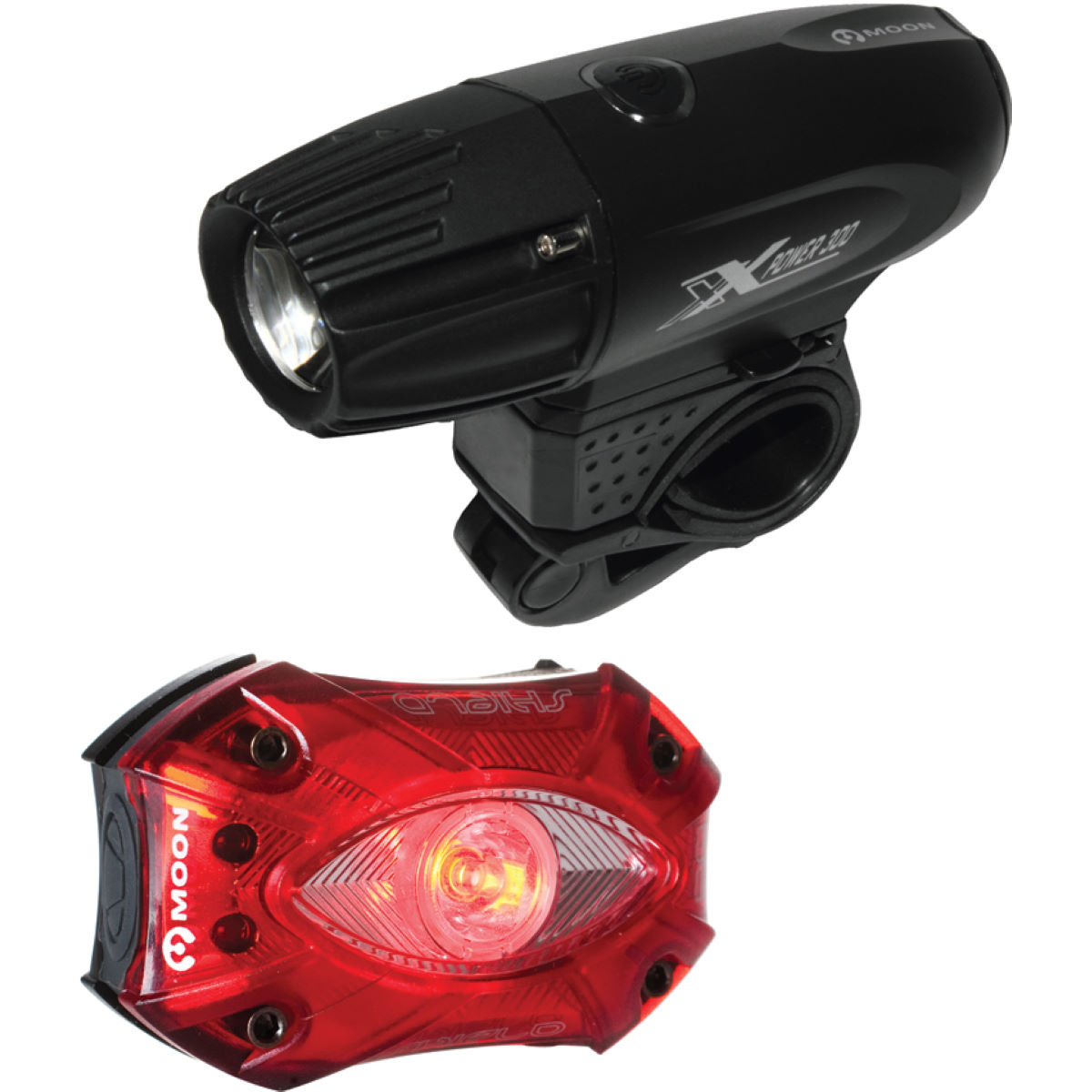 Moon X-Power 330 Front and Shield Rear Light Set