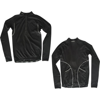 Orca Mens Velo M Tech Half Zip Long Sleeve Jersey