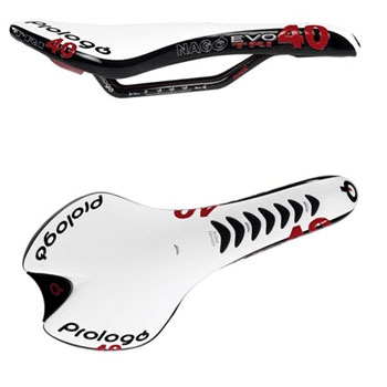 Prologo Nago Evo TRI40 TS Saddle with Titanium Rails