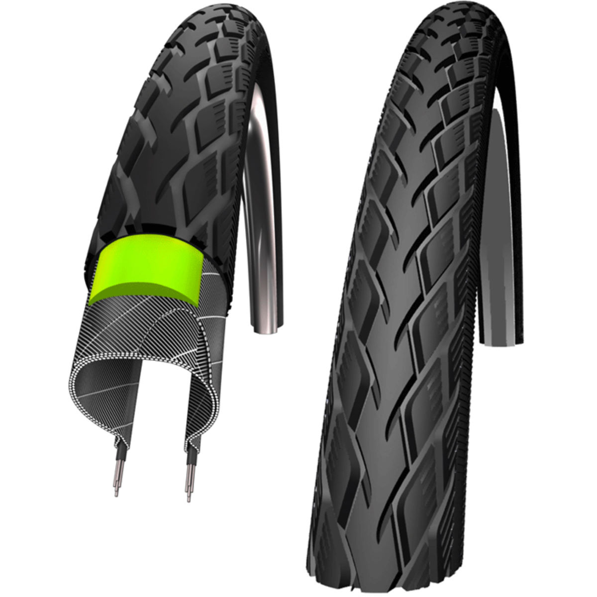 Schwalbe Marathon Original GreenGuard Rigid Road City Tyre