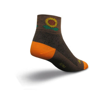SockGuy Ladies Sunflower Cycling Socks
