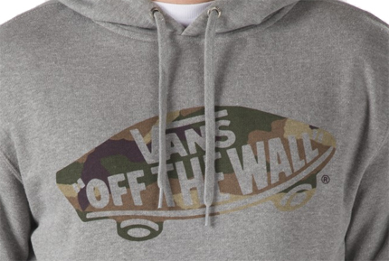 grey vans off the wall hoodie