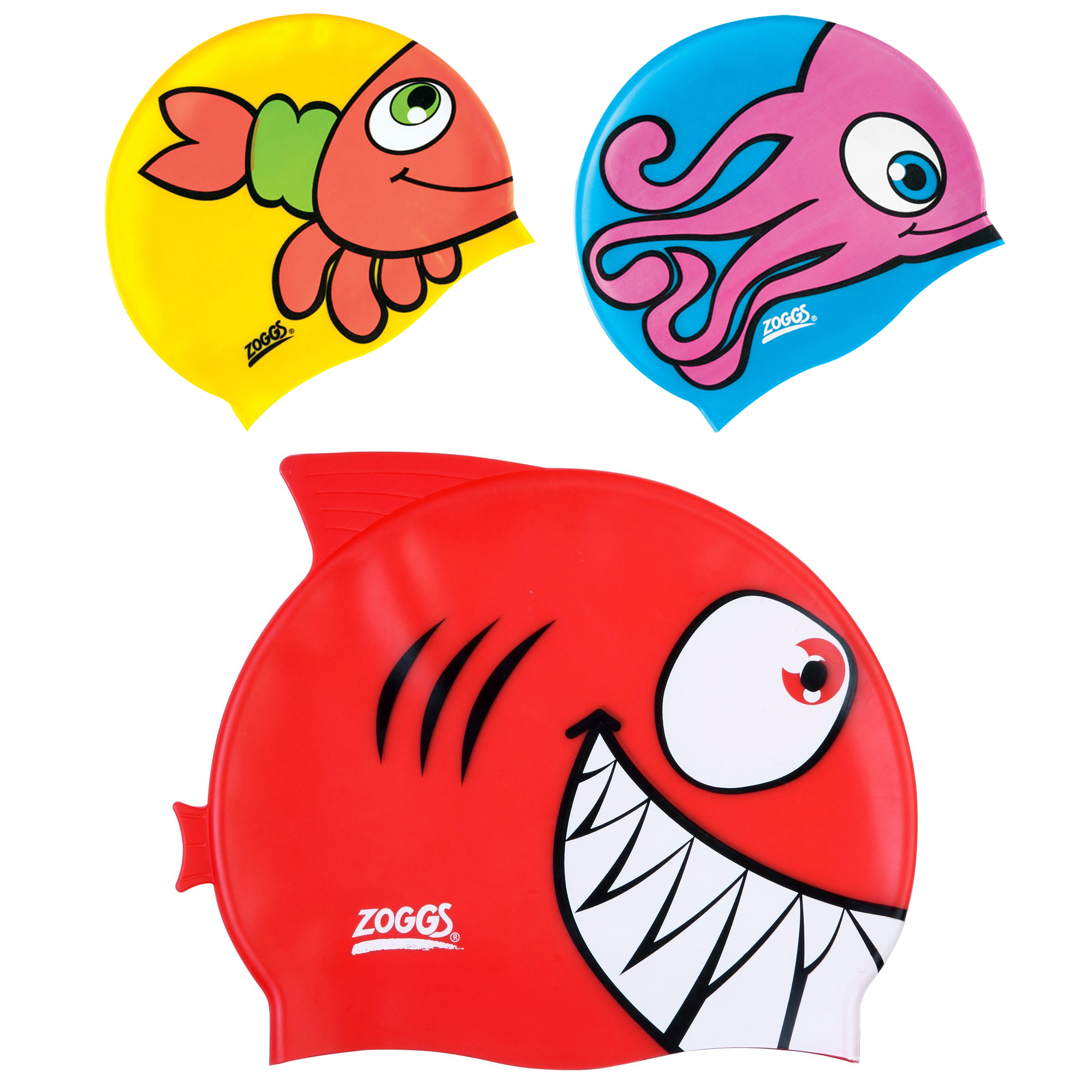 Zoggs Silicone Character Cap (Assorted)