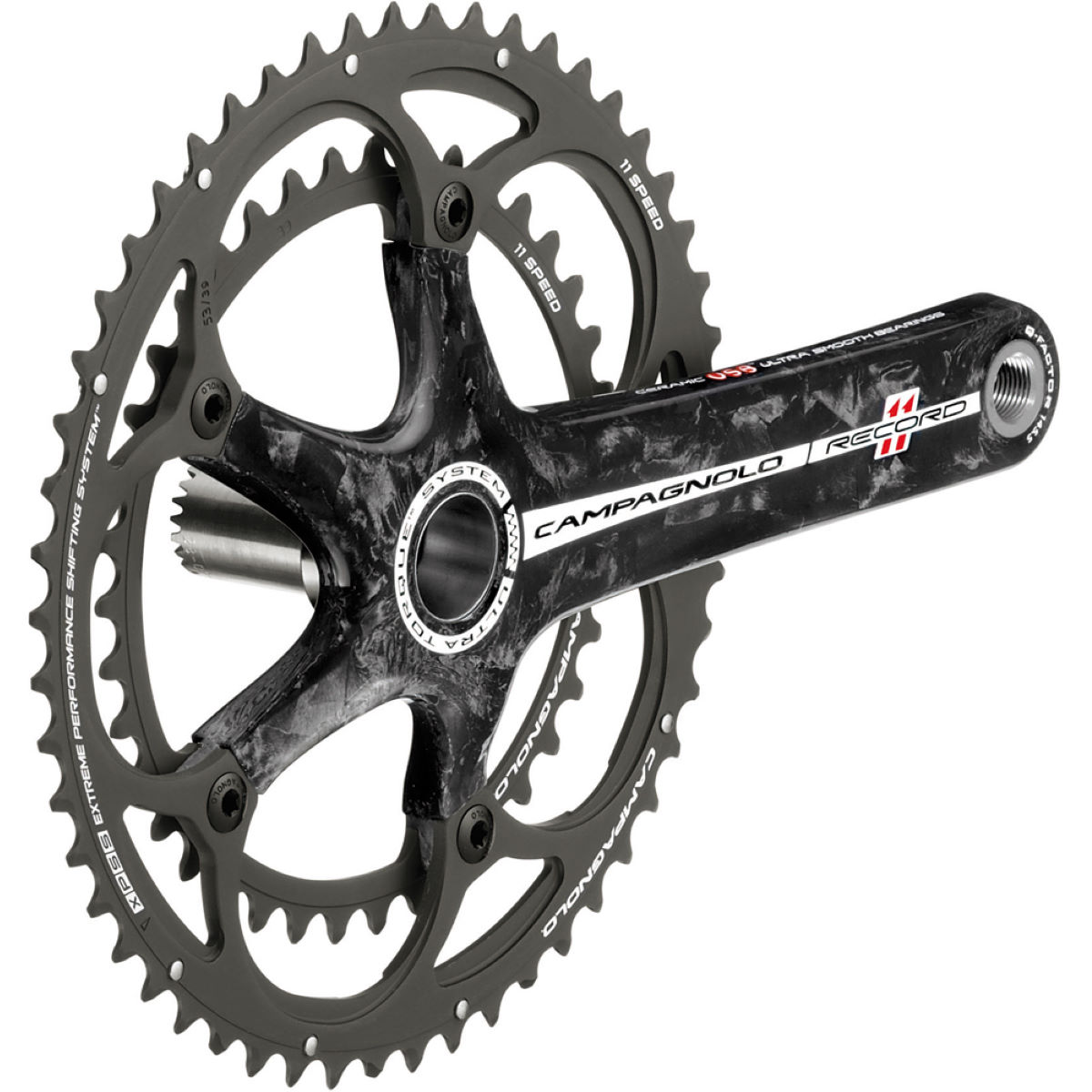 Campagnolo Record 11 Speed Carbon Compact Chainset