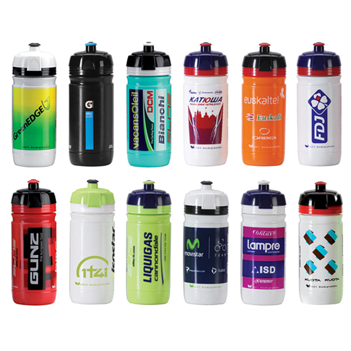 Elite Corsa Team 550ml Water Bottles