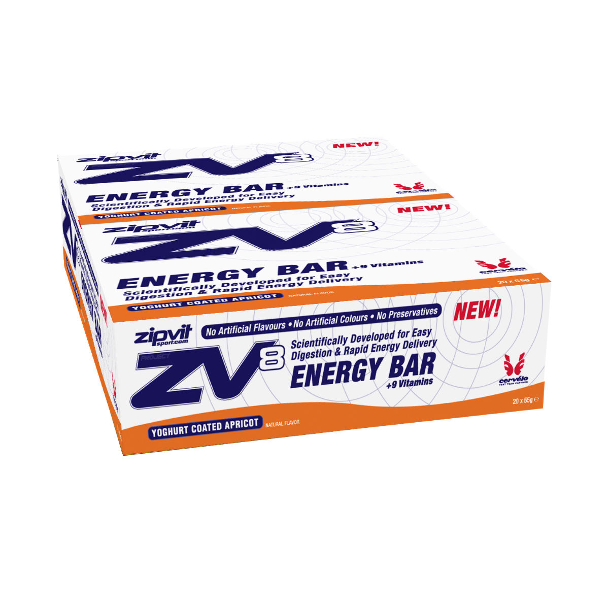 ZipVit Sport ZV8 Yoghurt Coated Energy Bars 20 x 55g
