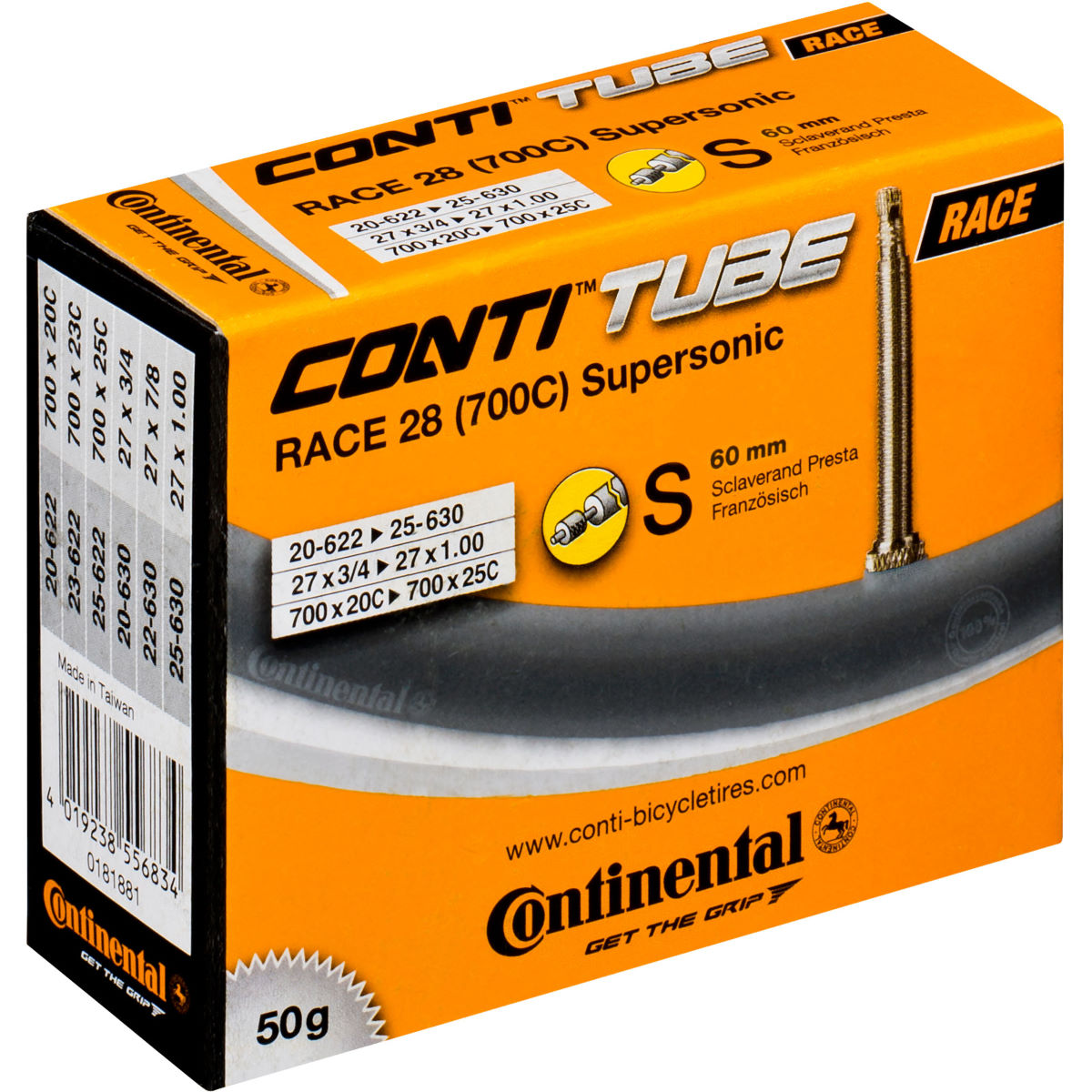 Continental Supersonic Road Long Valve Inner Tube   Inner Tubes