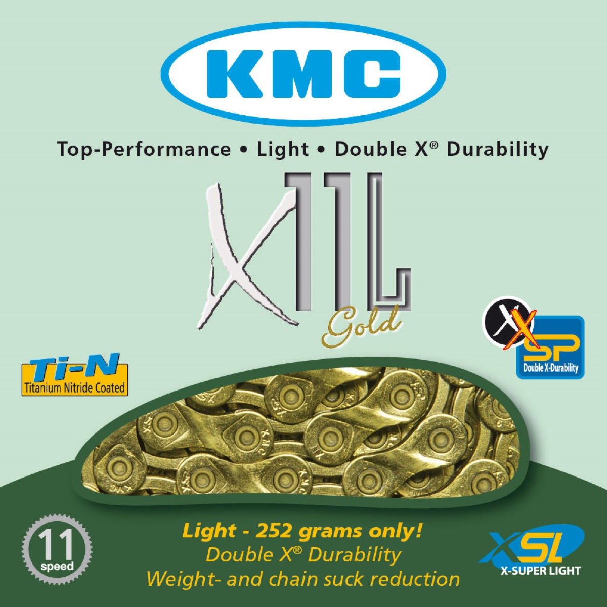 KMC X11-L Gold 11 Speed Chain