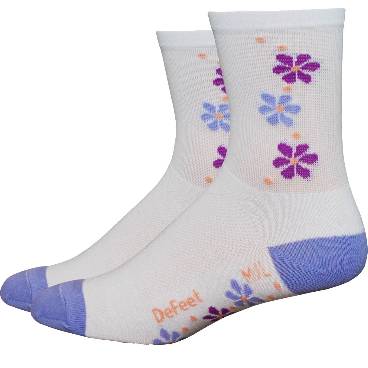 DeFeet Women's Aireator Pansy Cycling Socks