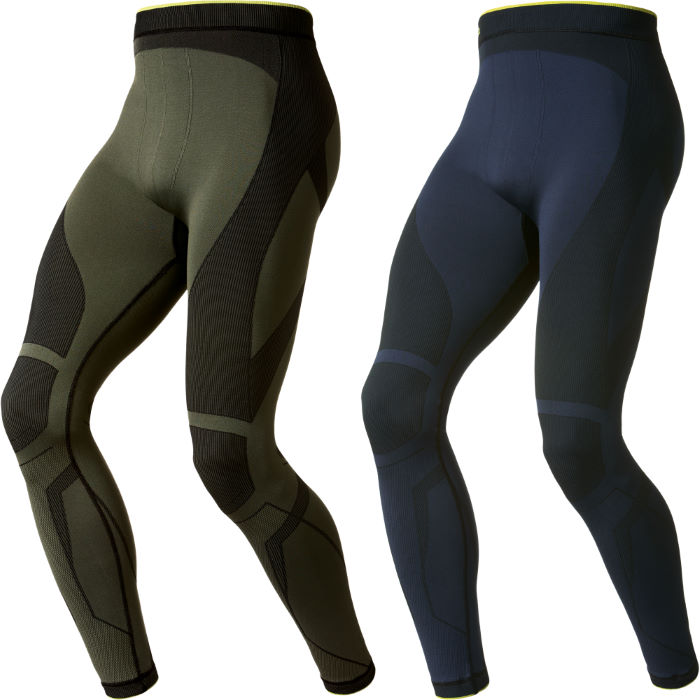  Evolution Warm Green Base Layer Tights