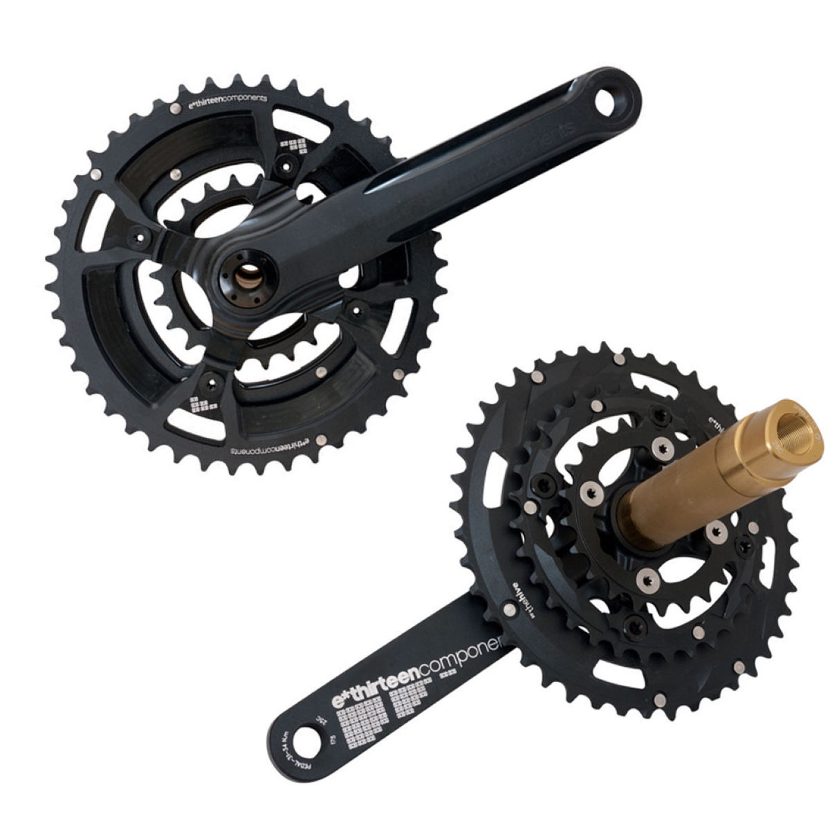 e.thirteen XC Triple Chainset (XCX Plus) with Chainrings   Chainsets