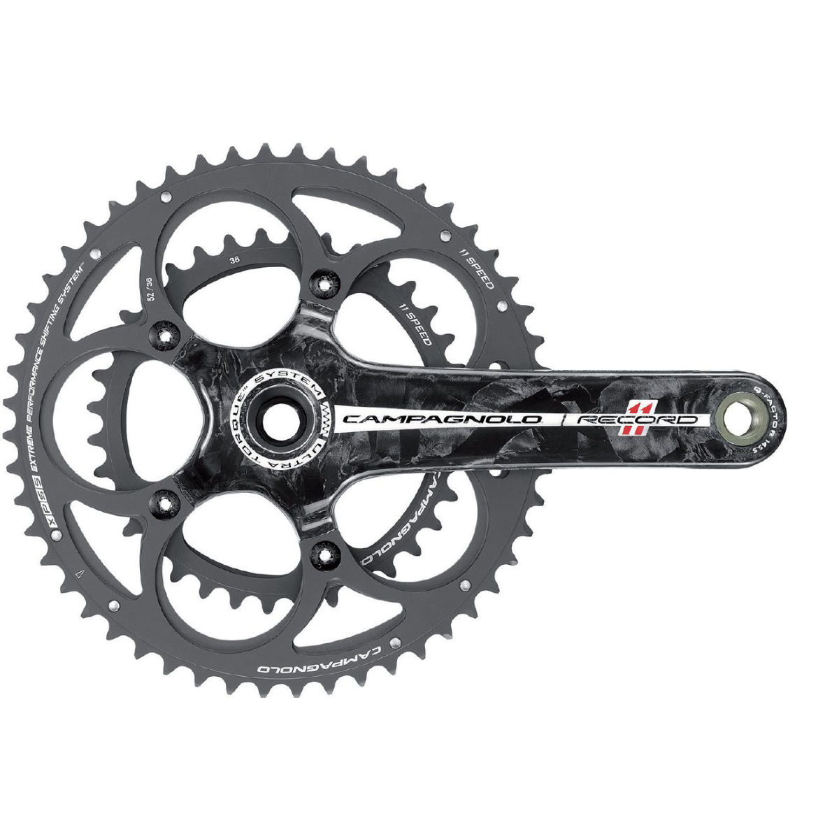 Campagnolo Record 11 Speed 52/36 Carbon Chainset   Chainsets