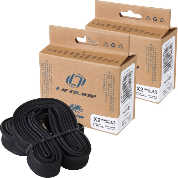Essential Narrow Road Inner Tubes 48mm Presta x 4