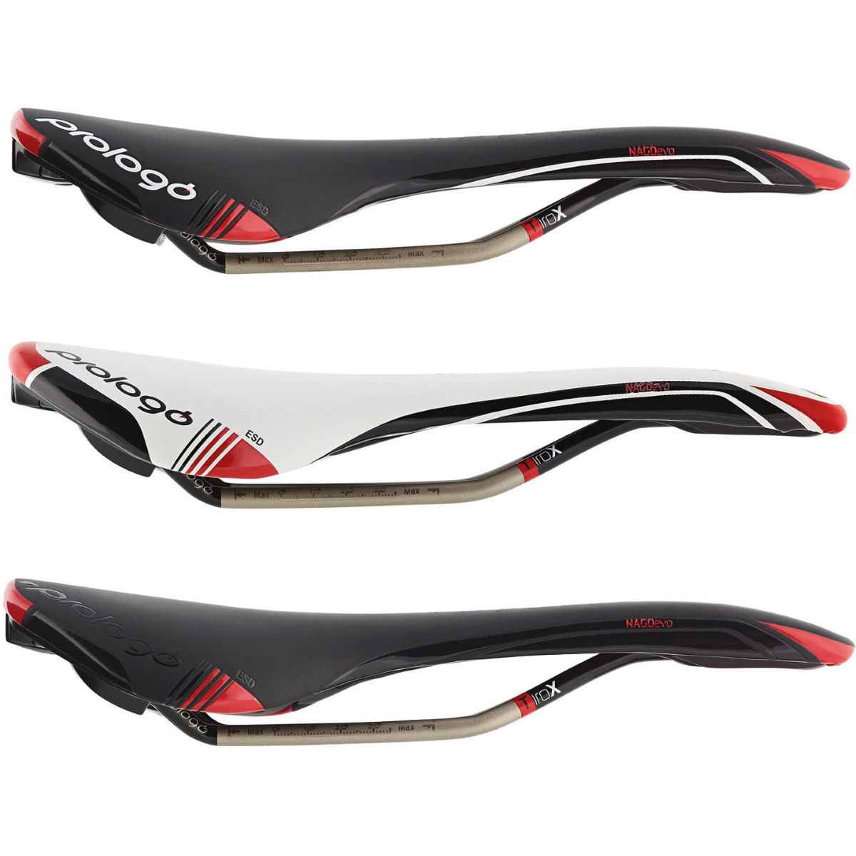 Prologo Nago Evo Saddle with TiroX Rails 273mm