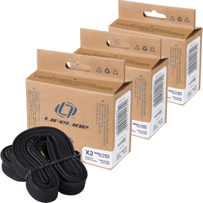 Essential Narrow Road Inner Tubes 60mm Presta x 6