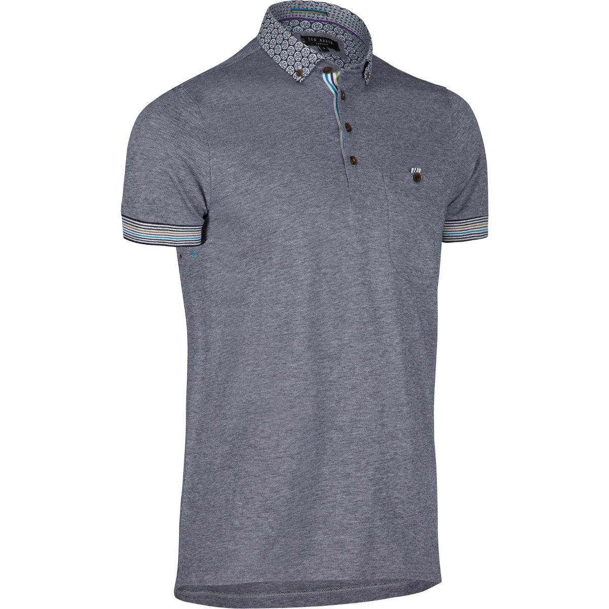 Ted Baker Ryders Woven Collar Polo