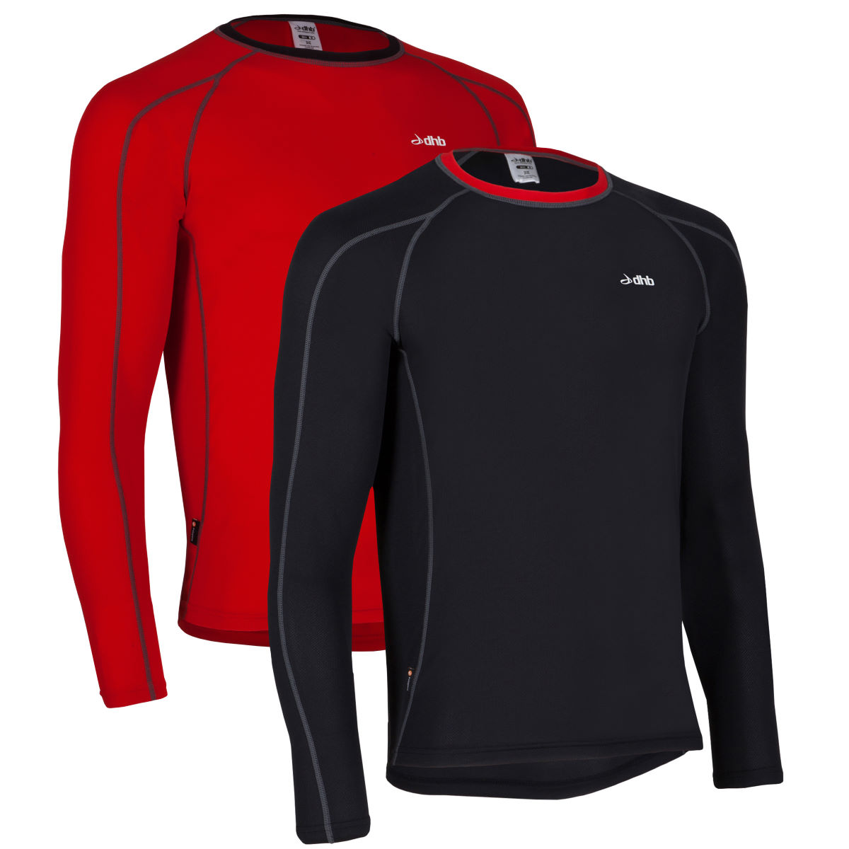 dhb Active Long Sleeve Base Layer-Pack of 2