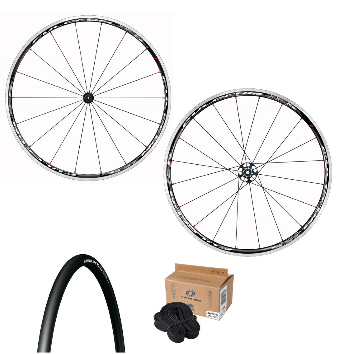 Fulcrum Racing 7 Wheelset Tyres & Tubes Bundle