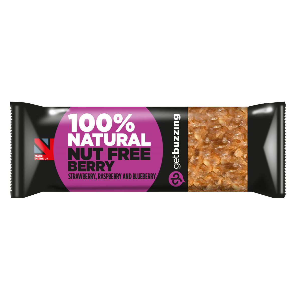 getbuzzing 100% Natural Energy Bar 24 x 62g