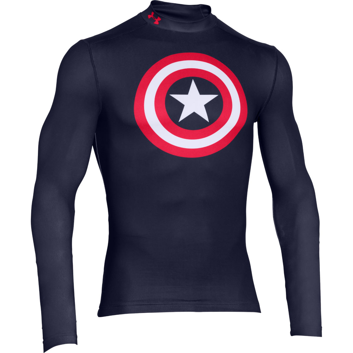 Camiseta de manga larga Under Armour Captain America EVO Comp Mock -...