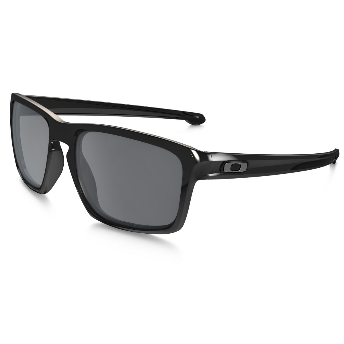 Oakley Sliver Iridium Polarised Sunglasses - One Size Polished Black