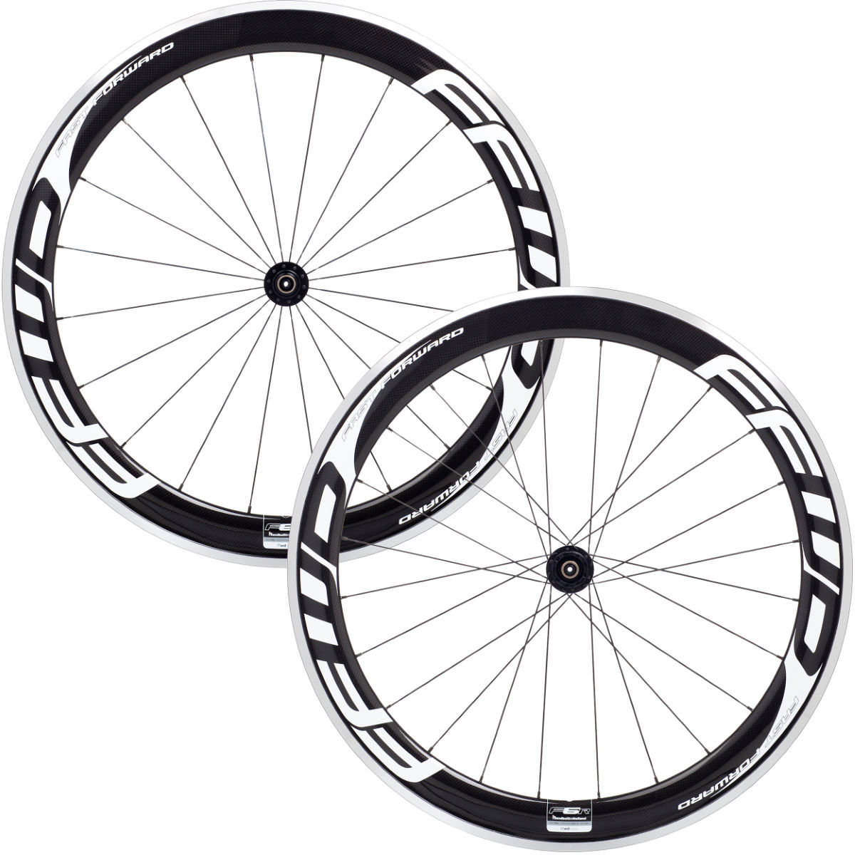 Fast Forward F6R White Alloy/Carbon Clincher Wheelset