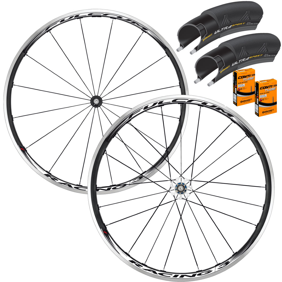 Fulcrum Racing 3 Wheelset Tyres & Tubes Bundle