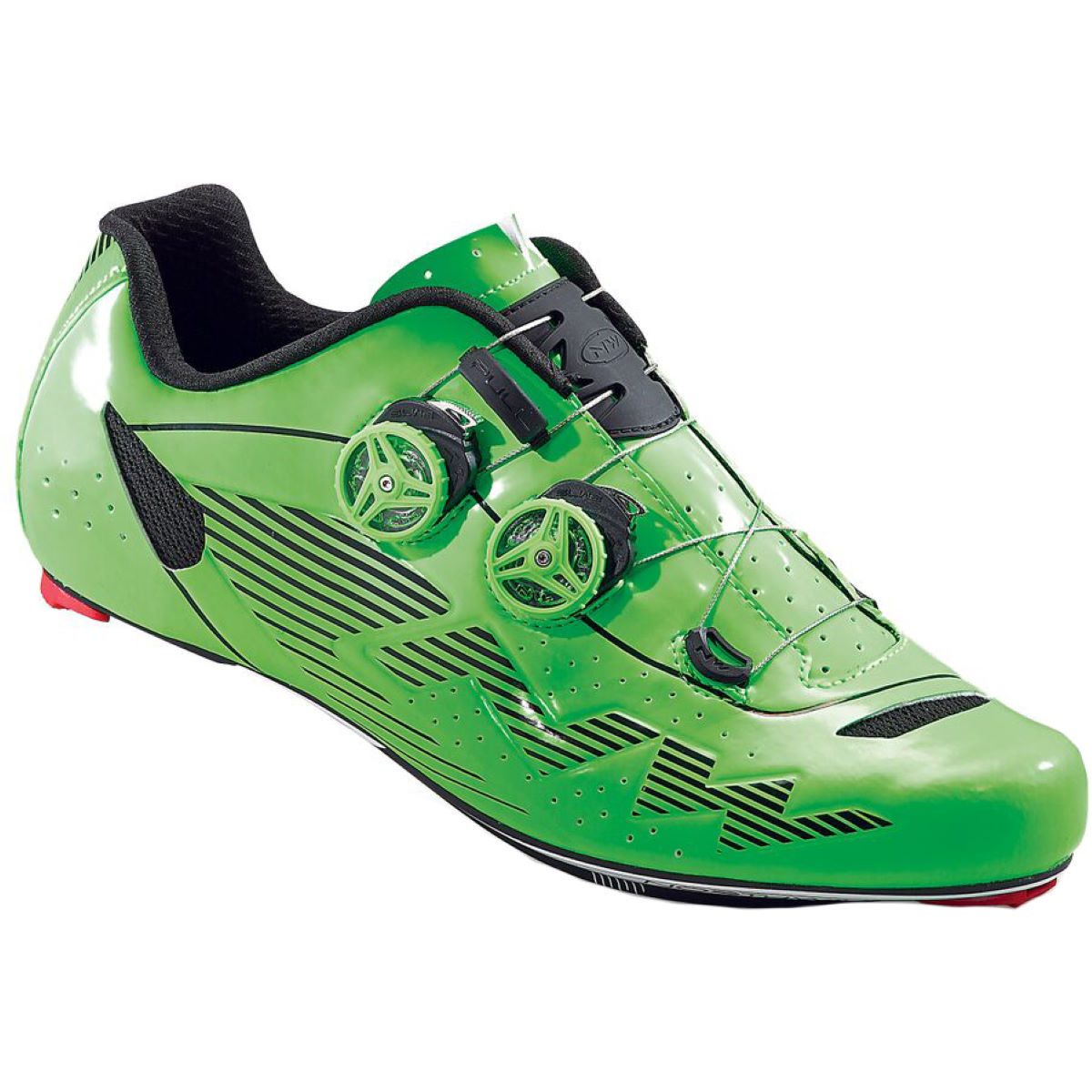 Northwave Evolution Plus Road Shoes - 48 Green Fluro | Road Shoes