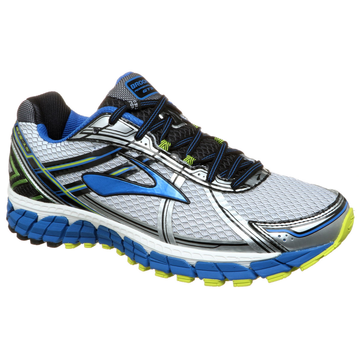 Brooks Adrenaline GTS 15 Shoes () - UK 7.5 White/Olympic/Lime