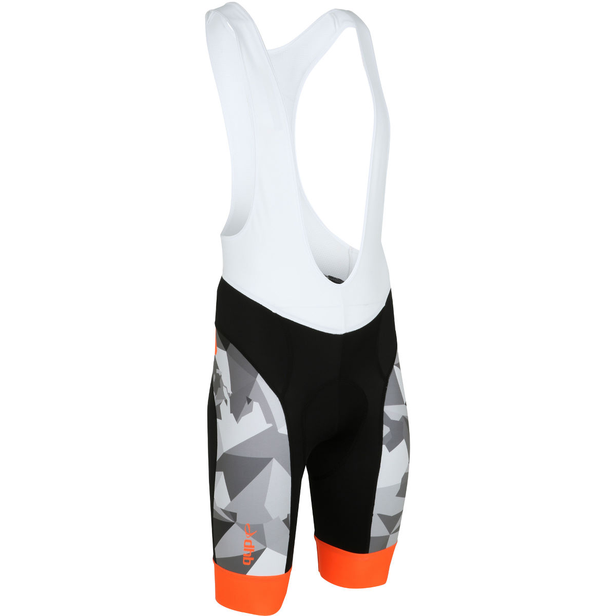 dhb Blok Camo Bib Short - Small Black/Orange | Lycra Cycling Shorts