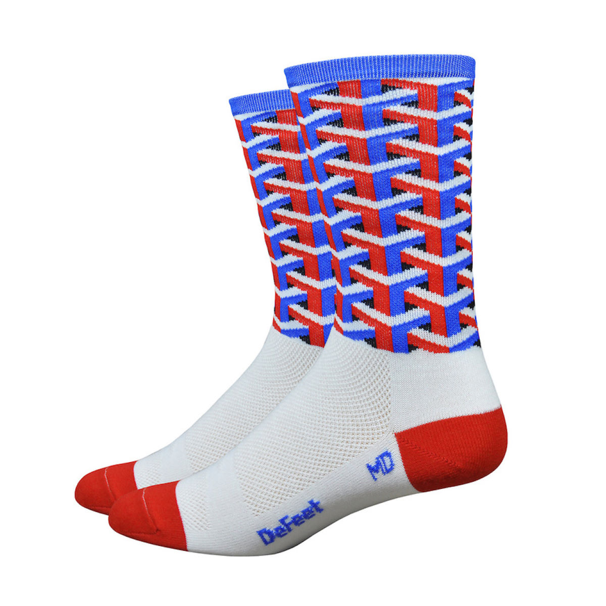 DeFeet Framework Socks - Small White | Cycle Socks
