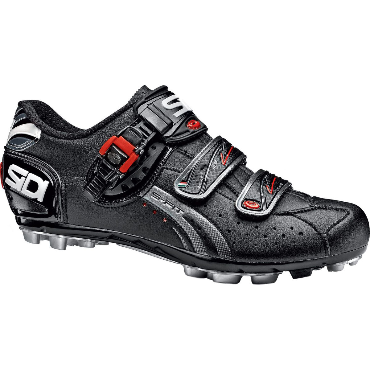 Sidi Dominator 5-Fit MTB Shoe - 45.00 Black/Black | Offroad Shoes