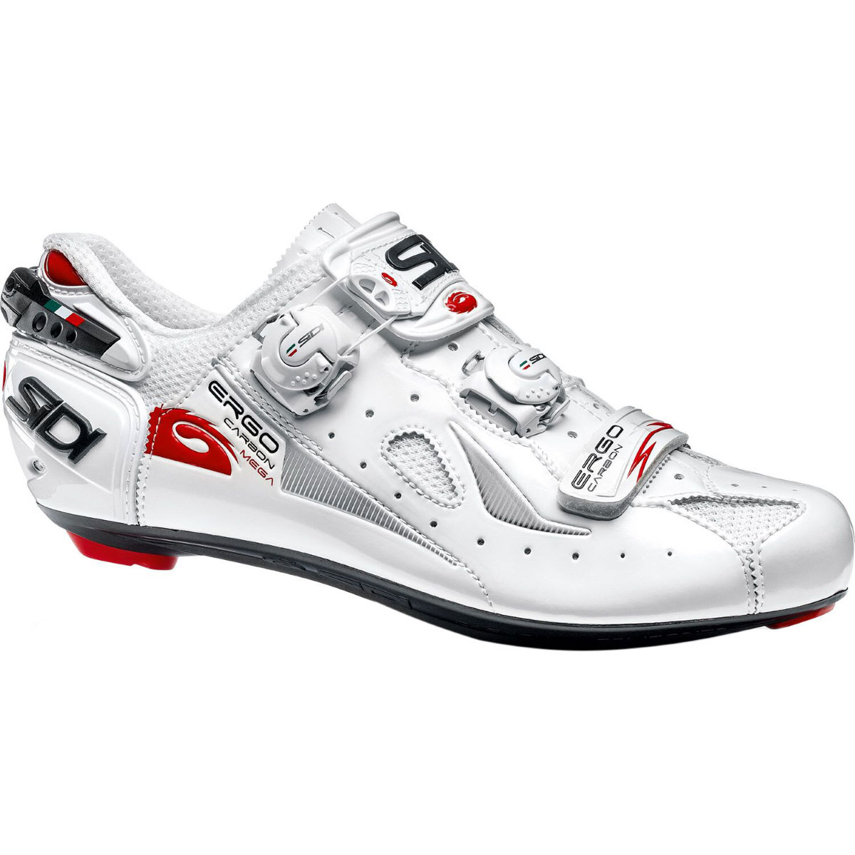 Sidi Ergo 4 Carbon Road Shoes (Mega/Wide Fit) - 48 White/White