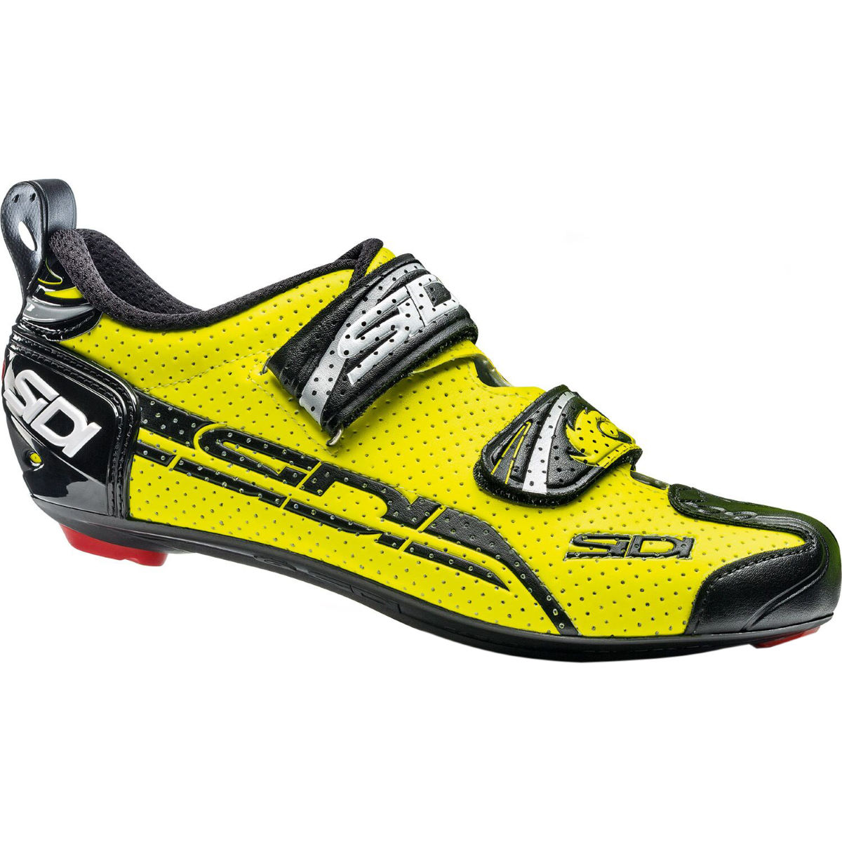 Sidi T-4 Air Carbon Triathlon Shoe - 41 Yellow Fluo/Black | Tri Shoes