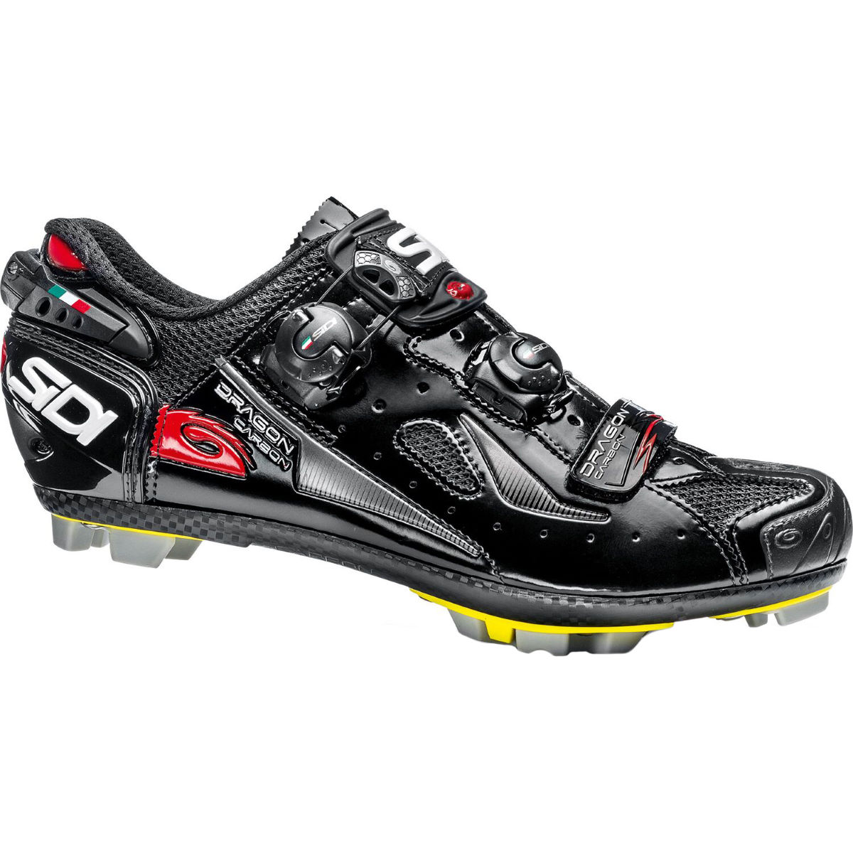 Sidi Dragon 4 SRS Carbon MTB Shoe - 43.5 Black/Black | Offroad Shoes