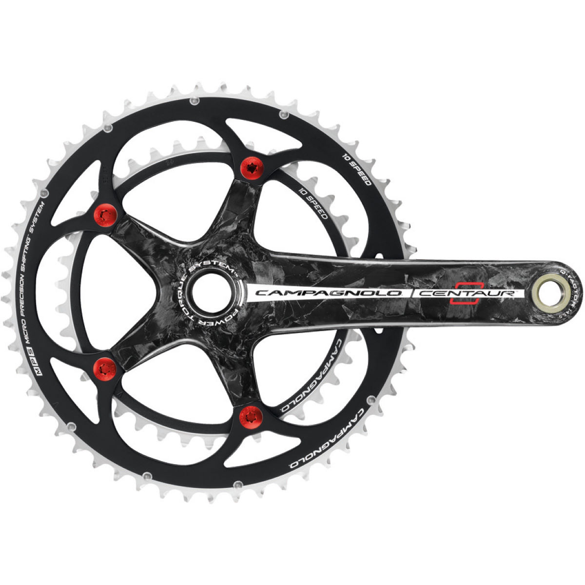Campagnolo Centaur Red 10 Speed P-Torque Carbon Chainset