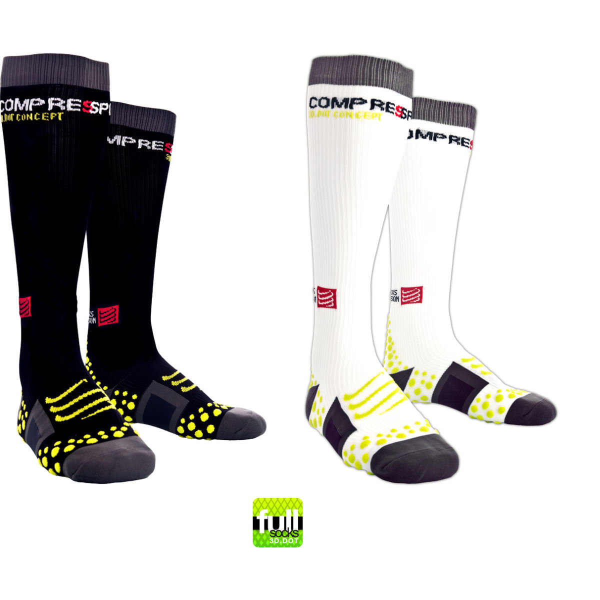 Compressport Full Sock 3D Dot Compression Sock