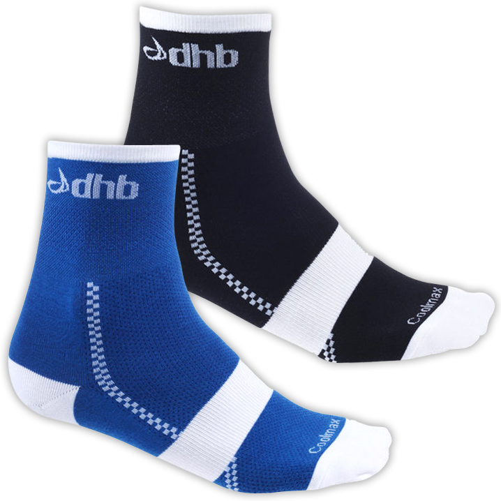 dhb 2 pack - Light Weight Cycling Sock 8cm