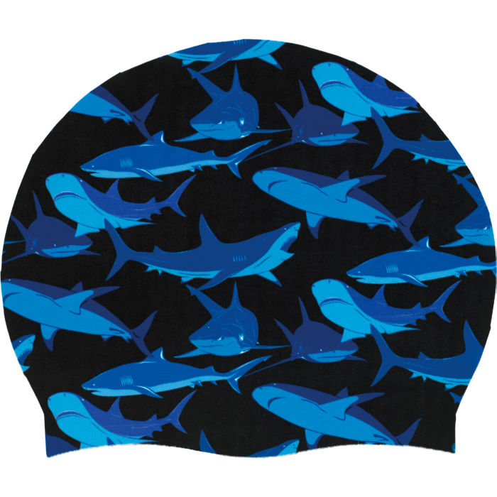 Shark Silicone Swim Hat AW13