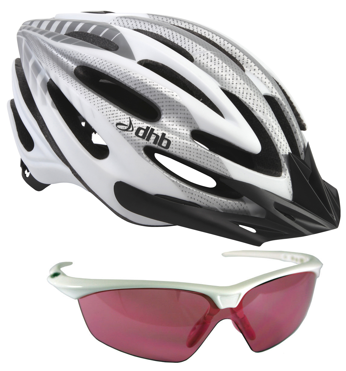 dhb iON Helmet and Women's Triple Lens Sunglasses