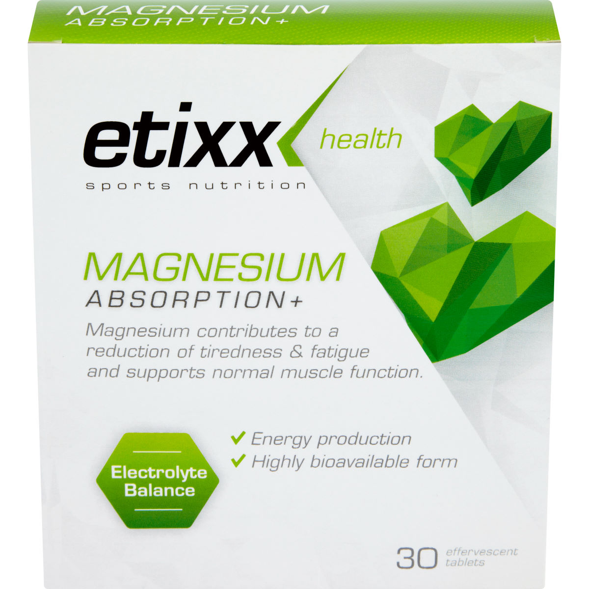 Etixx Magnesium Absorption Plus (3 Tubes - 30 Tablets)